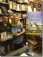 Linda and Lenny DiMenna at Book Barn Aug 2016