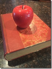 Apple on book